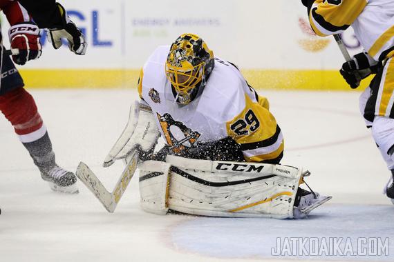 Marc-Andre Fleury on ollut Penguinsin maalilla häikäisevä