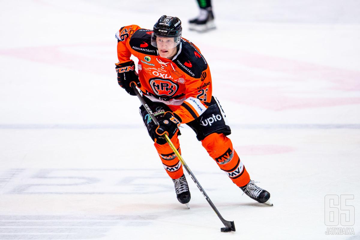 HPK:n hyökkääjä Tommi Tikka luonnehti illan HIFK-kamppailua tasaiseksi.