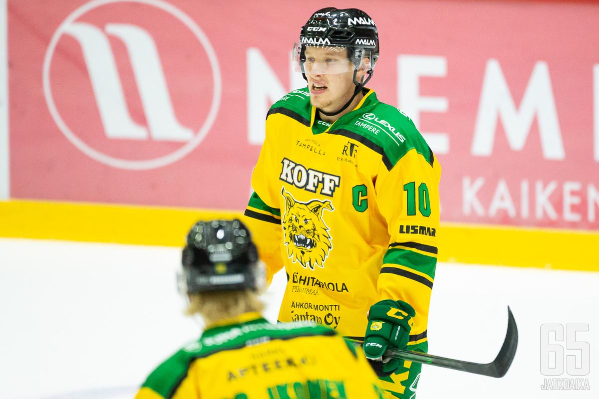 Ilves-kasvatti Suomi on pelannut Liigassa ainoastaan tupsukorvien riveissä.