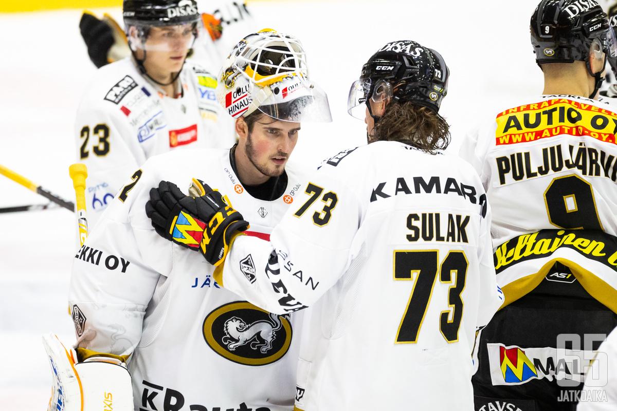 Patrik Rybár ja Libor Šulák toimivat Kärppien voiton takuumiehinä.