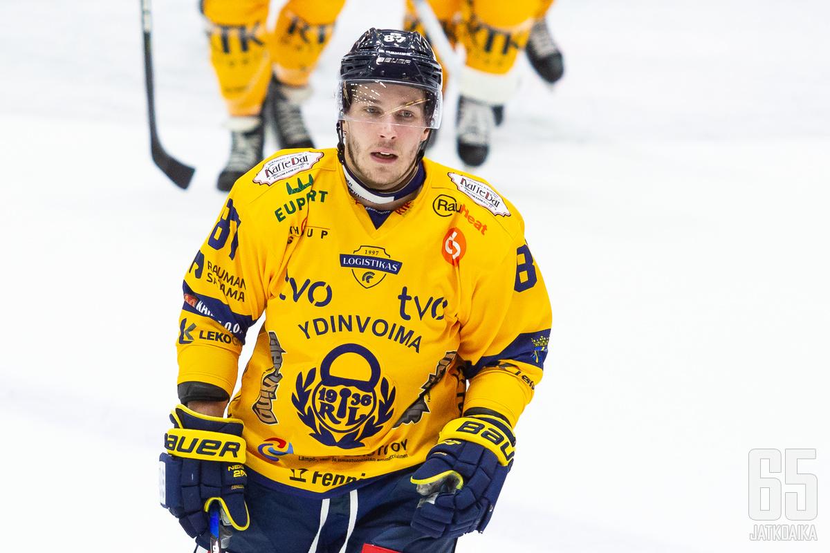 Lukon NHL-laina Aleksi Saarela iski tänään tehot 1+2