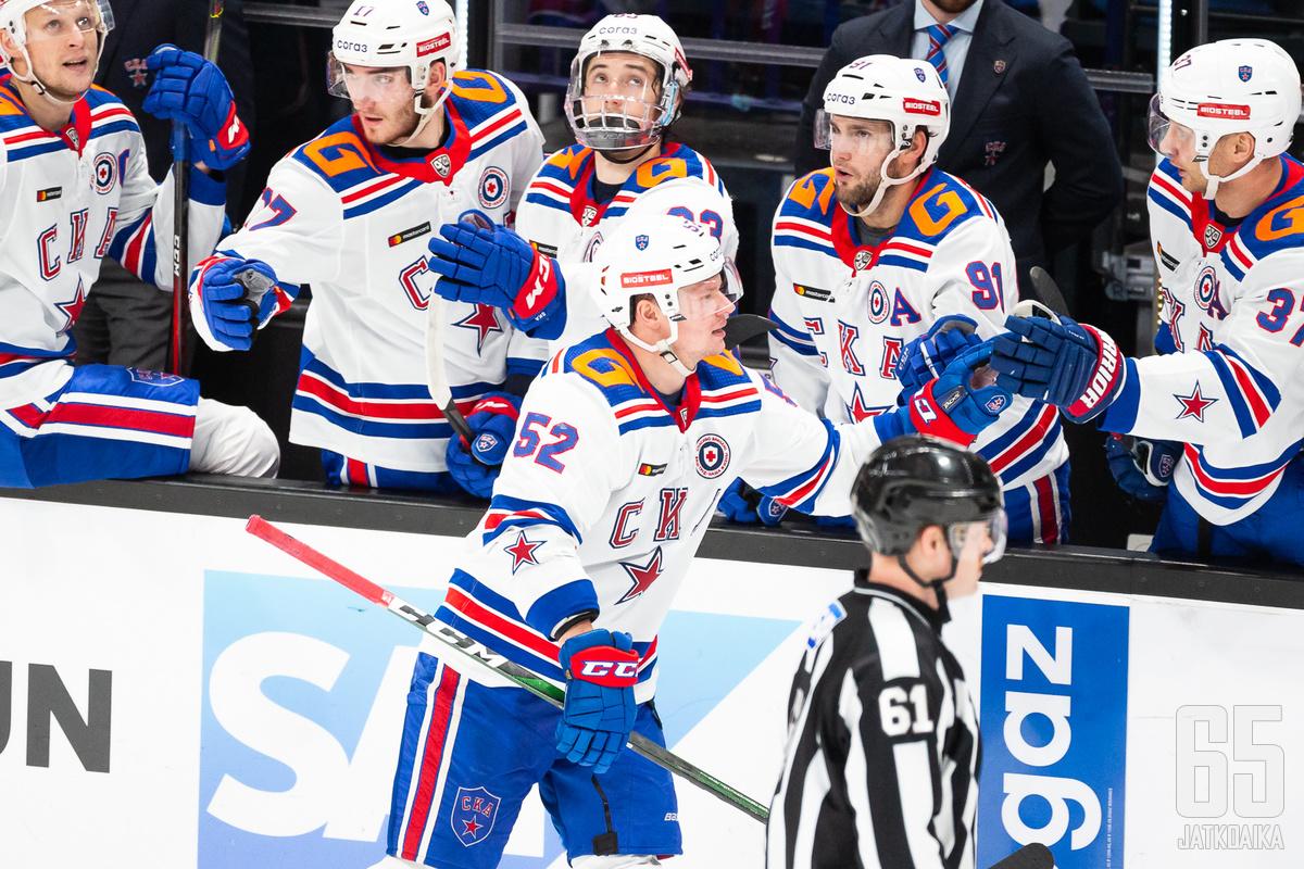 Miro Aaltonen ei tuuleta tulevalla kaudella maaleja KHL:n jättiläisseura SKA Pietarissa.