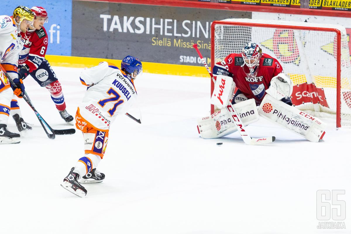 Kristian Kuusela vastasi ottelun voittomaalista.