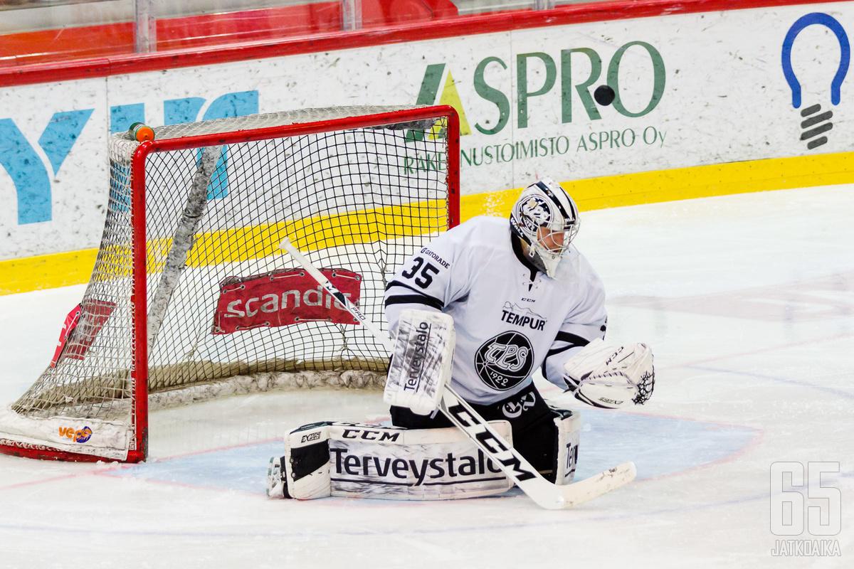 TPS:n edustusjoukkueessa debyytin tehnyt Eetu Anttila pelasi loistavan nollapelin.