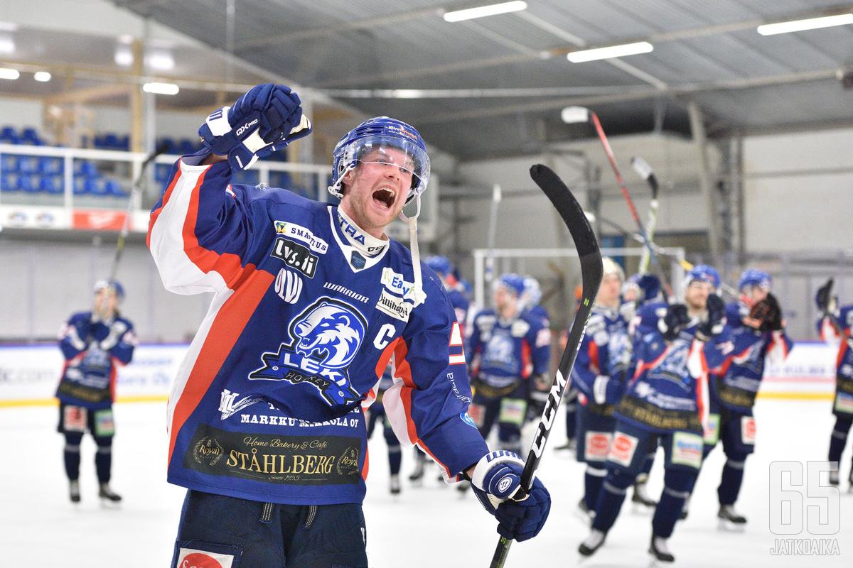 Kapteeni Sami Laakso jatkaa LeKissä konkurssin jälkeenkin.