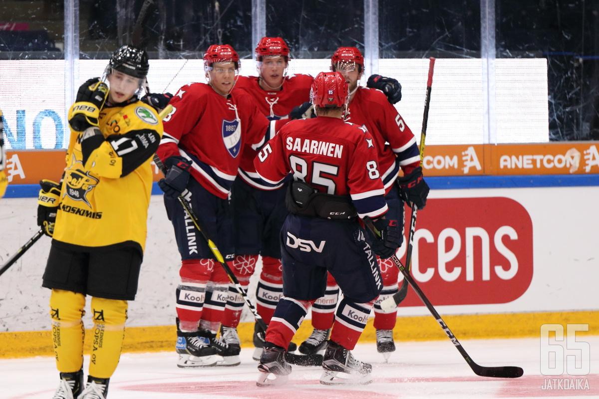 HIFKn ykkösketju oli pelipäällä.