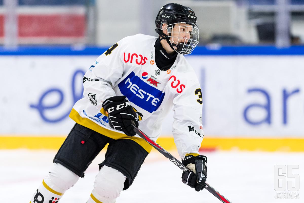 Viljami Marjalan tähänastinen seurajoukkueura on kulunut Kärppien paidassa.