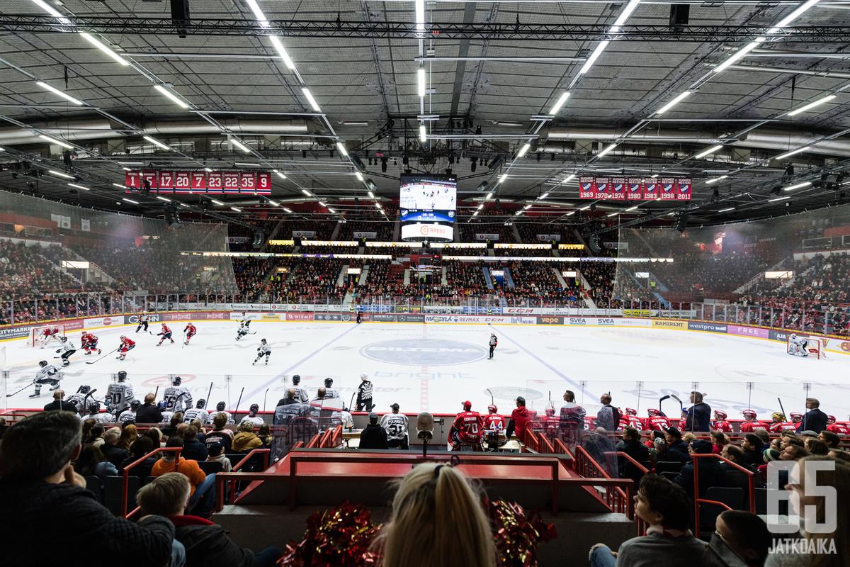 HIFK:n ja TPS:n kohtaaminen Helsingissä oli loppuunmyyty
