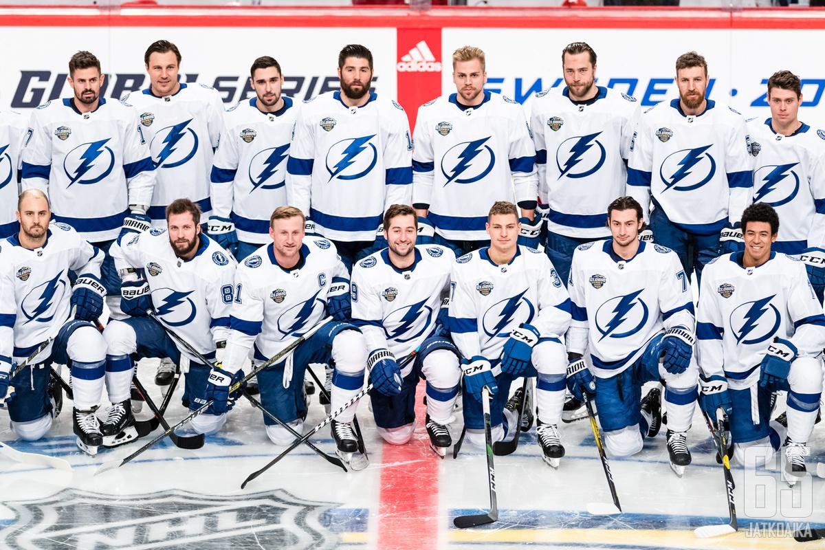 Tampa Bay Lightning on valmiina tositoimiin Tukholmassa.