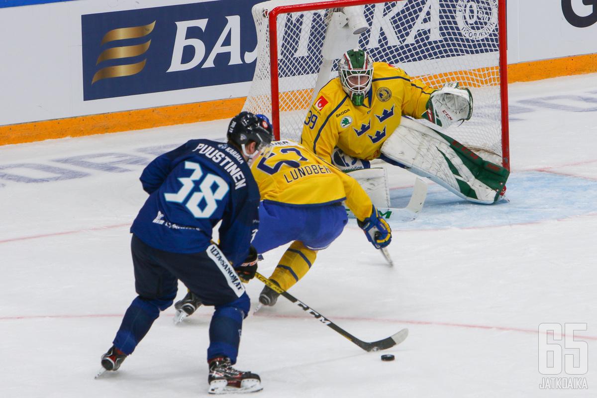Valtteri Puustinen onnistui maalinteossa.