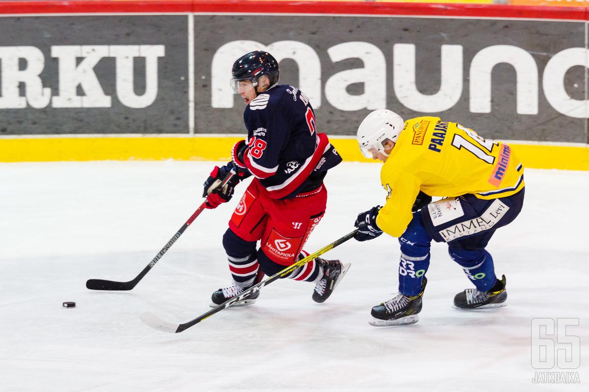 TUTO Hockeyn Mikko Laine iski illan kierroksella hattutempun.