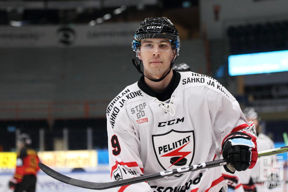 Kaasinen siirtyi Hokkiin vuosi sitten Peliitoista.