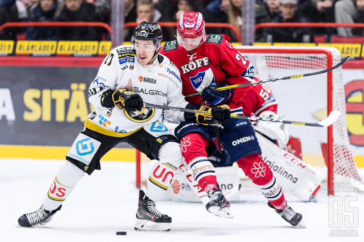HIFK ja Kärpät kohtasivat Helsingissä lauantaina 15.2.