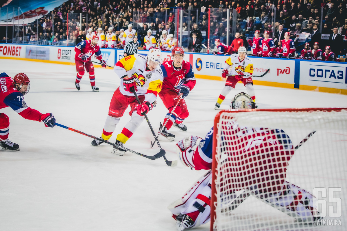 Lokomotiv taipui Jokereille pudotuspelien ensimmäisellä kierroksella viime keväänä.
