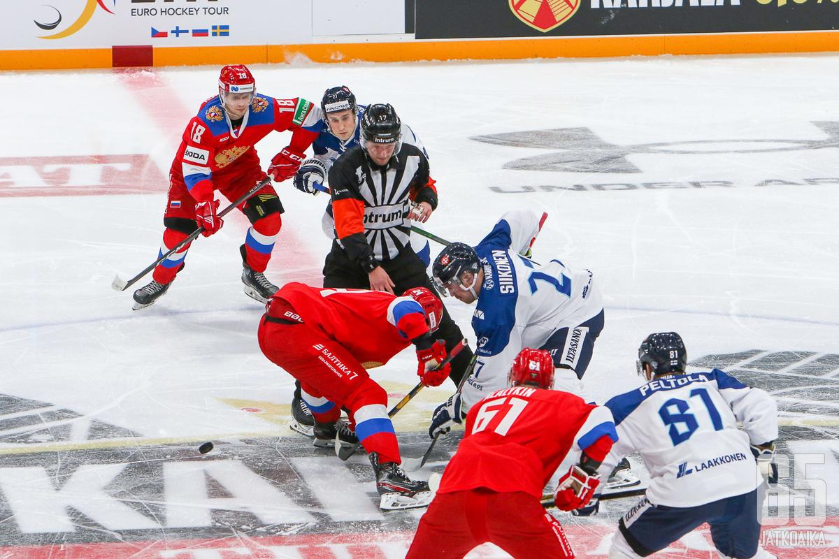 Helsingissä pelattu aiempi kohtaaminen päättyi Venäjän murskavoittoon.