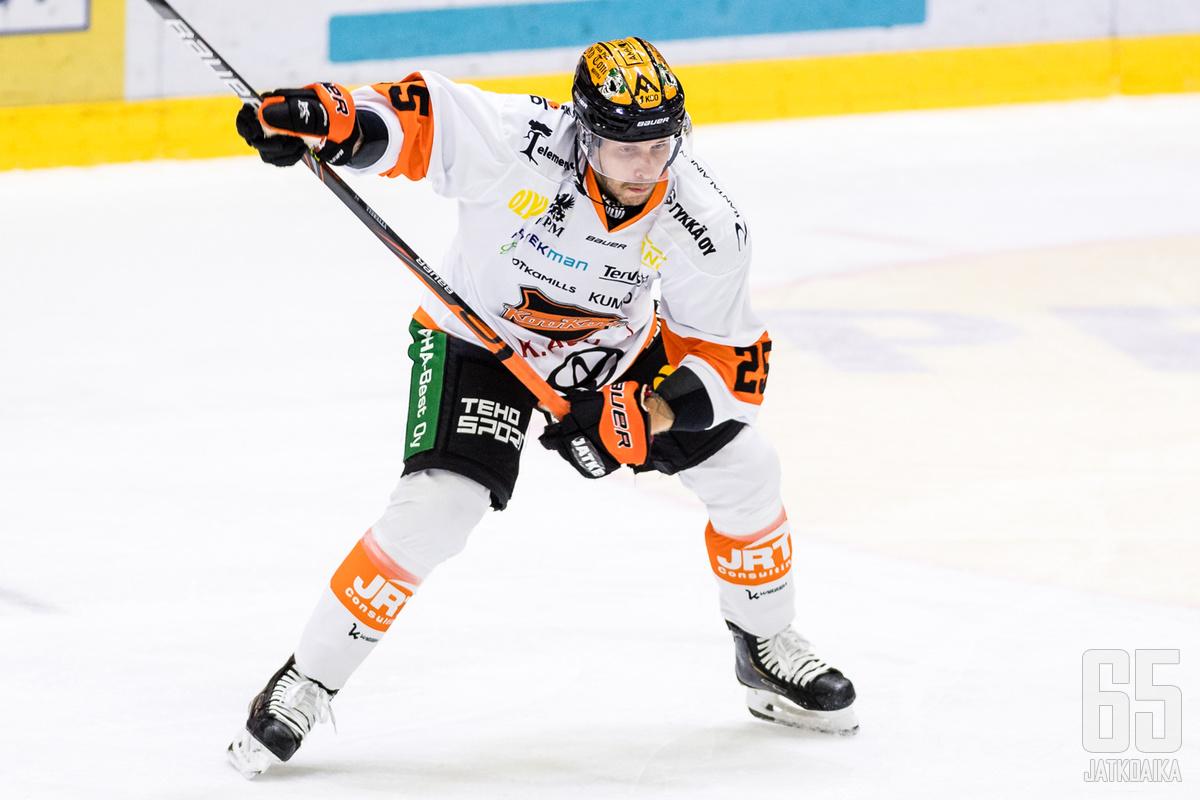 Alexander Ytterell kerkesi pelata Kouvolassa 21 ottelun verran ennen siirtoa Ruotsiin.