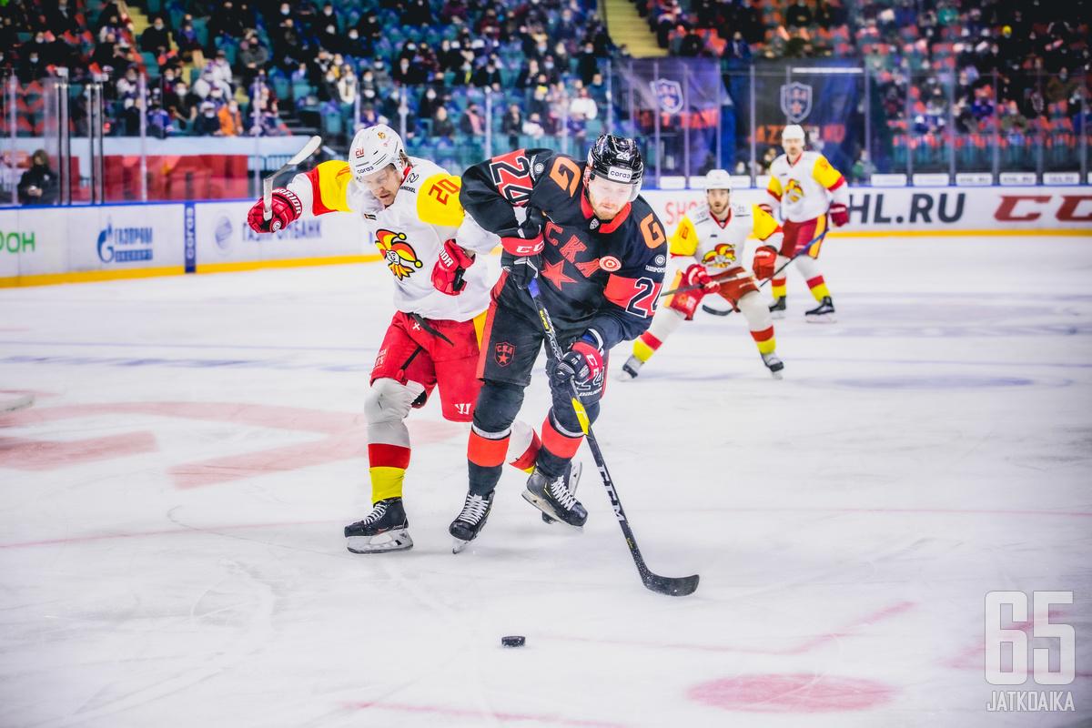Jokerit ja SKA pelasivat Pietarissa tiukan ottelun.