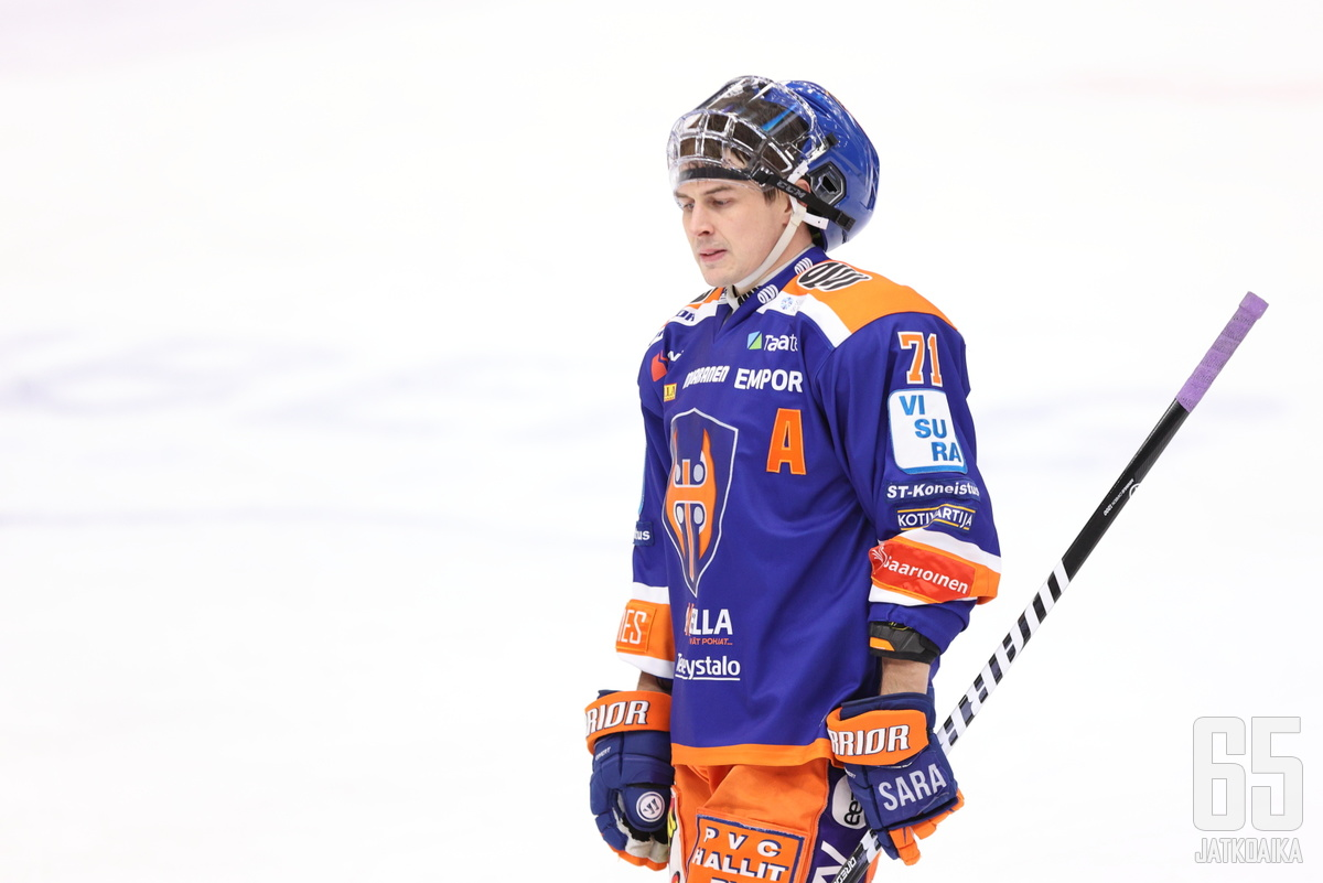 Kristian Kuusela saalisti JYPiä vastaan kolme syöttöpistettä.