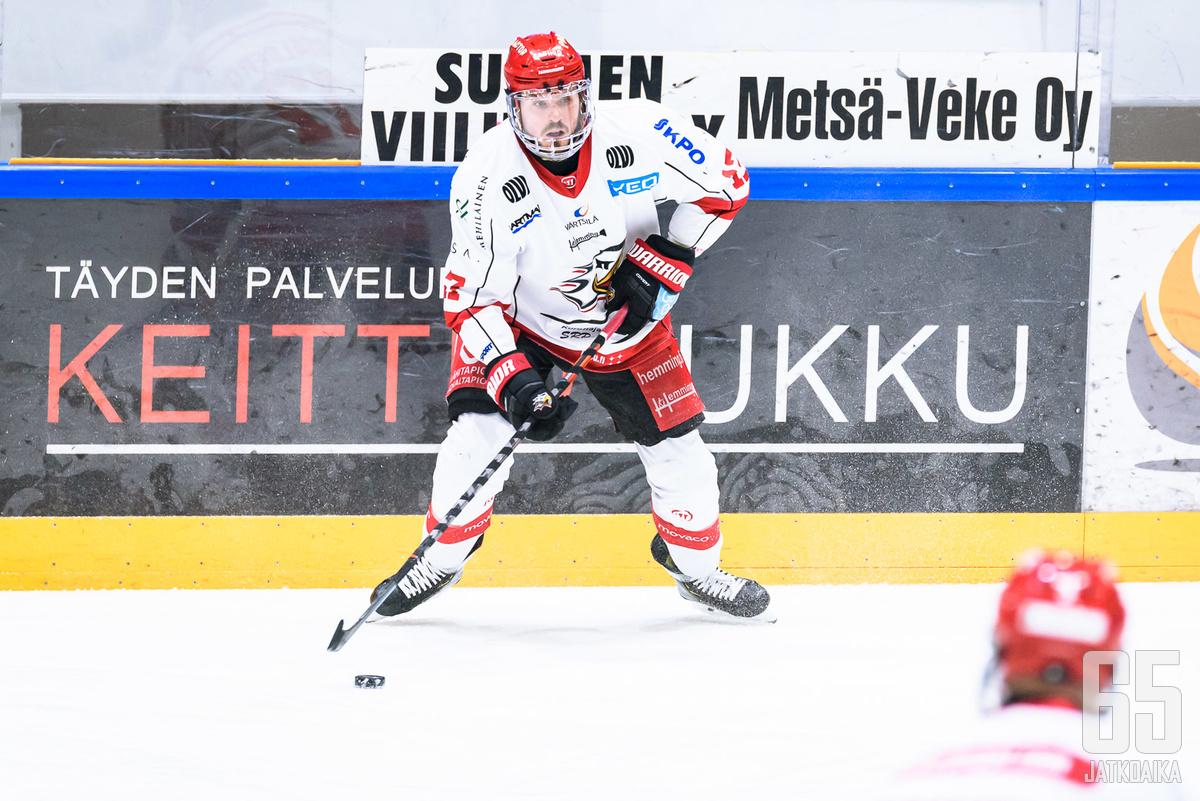 Sebastian Stålberg oli kentän näkyvimpiä pelaajia Mikkelin perjantai-illassa.