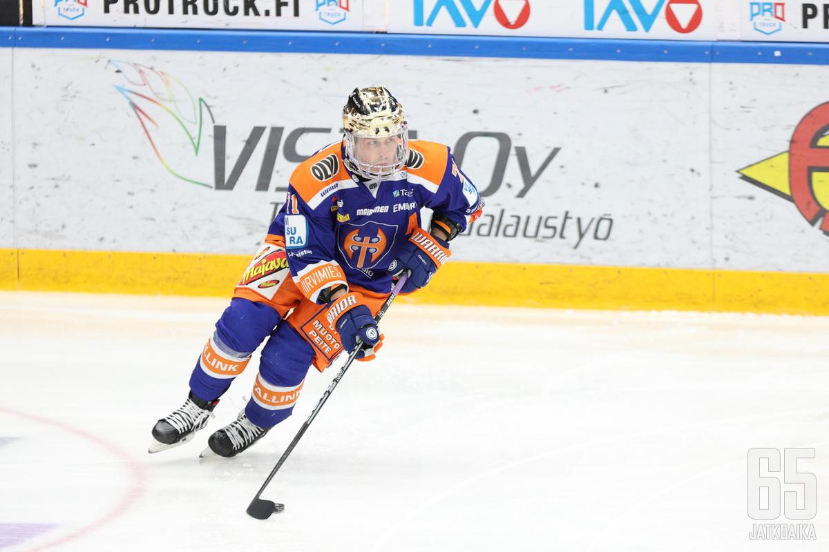Kristian Kuusela on poissa illan ottelusta.
