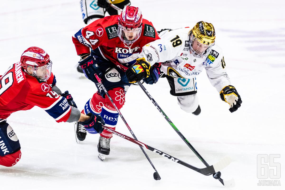 HIFK tyrmäsi Kärpät kolmannen kerran.