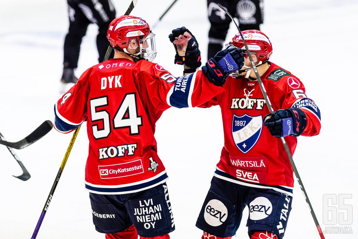Sebastian Dyk teki TPS:ää vastaan tehot 2+1.