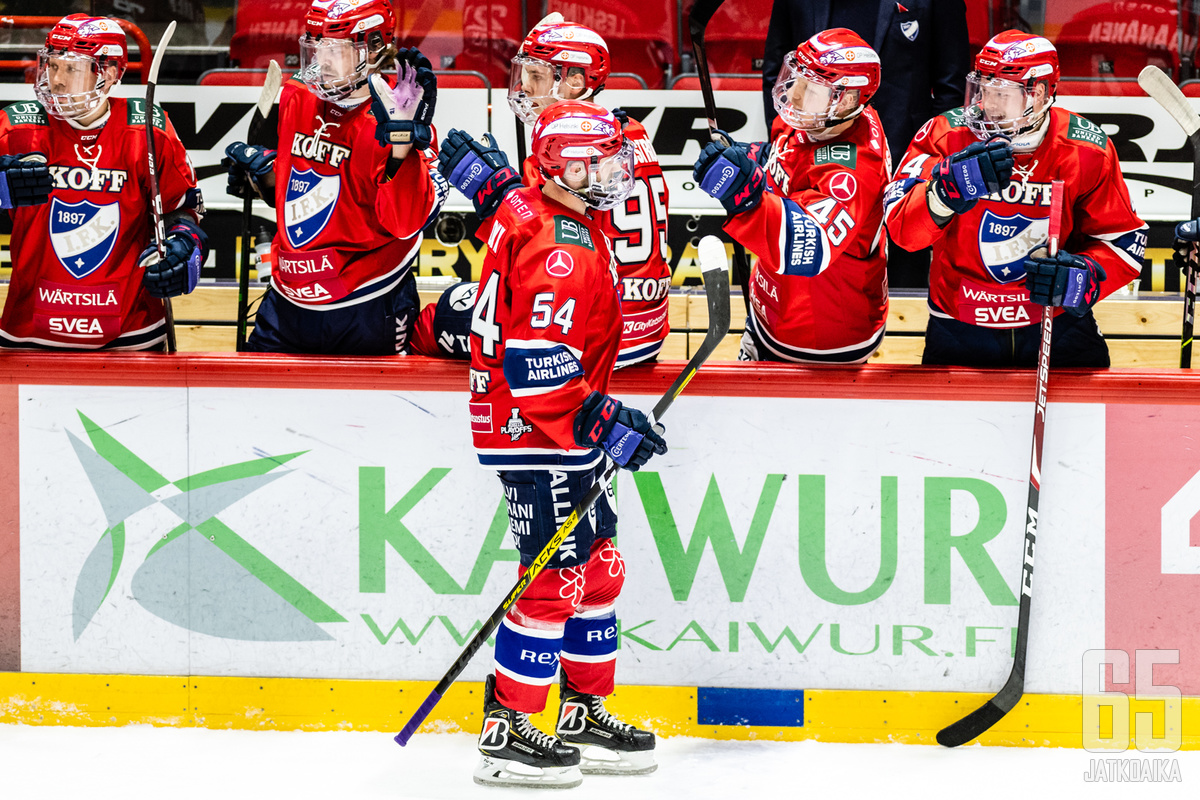 Sebastian Dyk nousi HIFK:n pudotuspelien pistepörssin kärkeen.