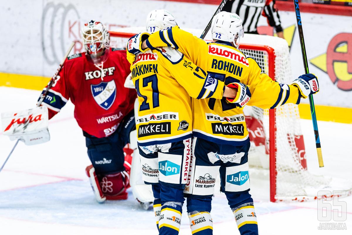 Jukurit pohjusti voiton HIFK:sta avauserän maaleilla.