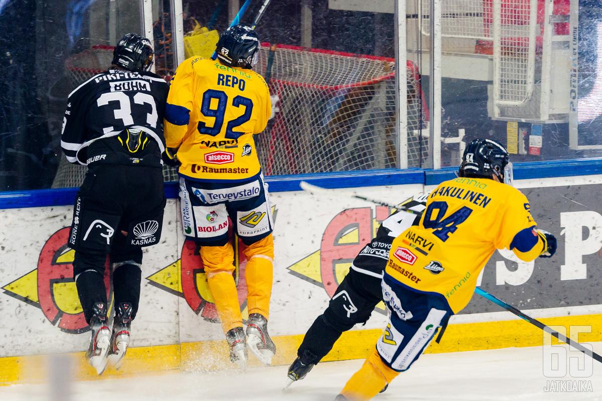 Sebastian Repo ja Anrei Hakulinen ovat piikkinä Lukon vastustajien lihassa myös tulevalla kaudella.