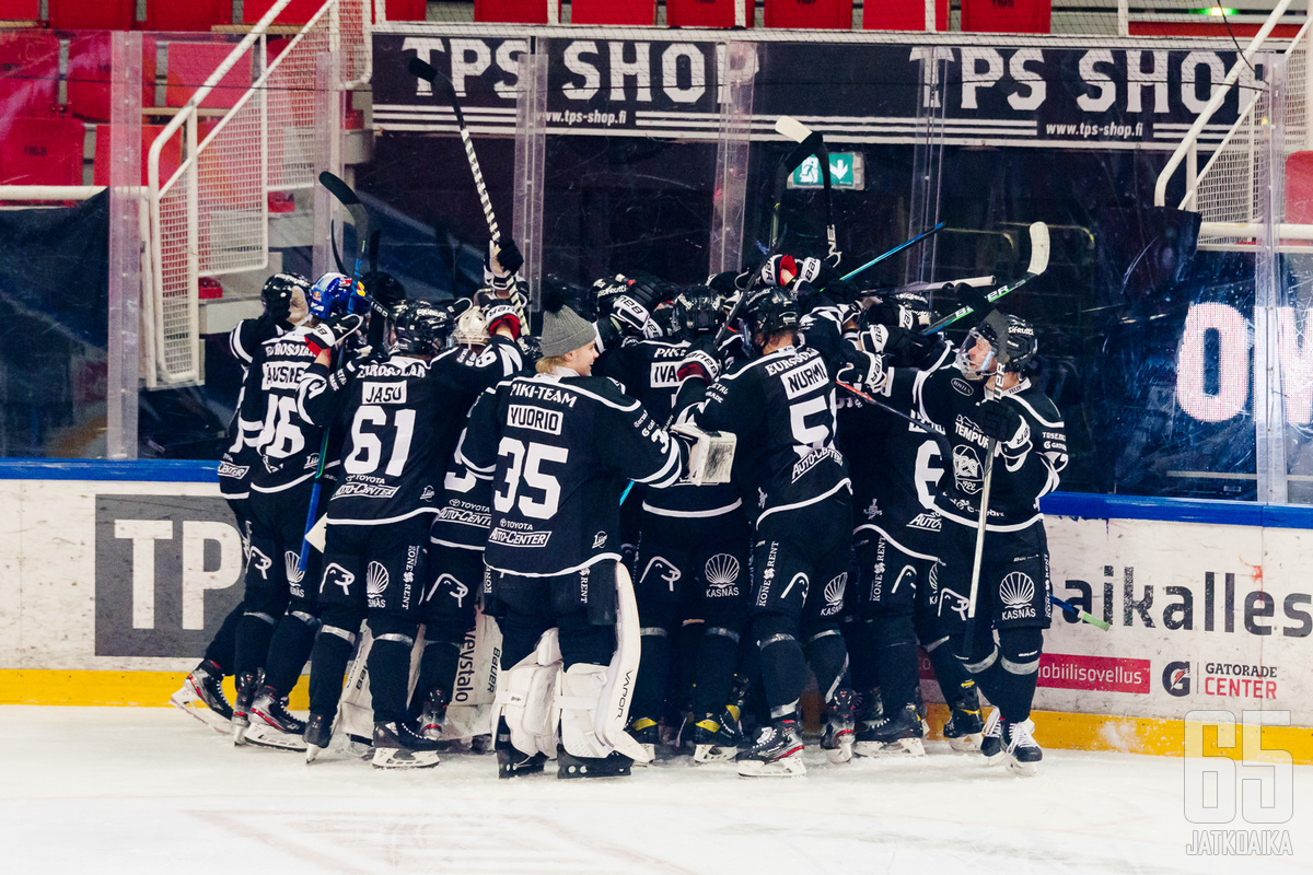 TPS oli maanantaina pitkiä aikoja altavastaajana, mutta kaudelleen tyypillisenä roikkui lopulta voittoon asti Eemil Viron jatkoerässä tekemällä osumalla.