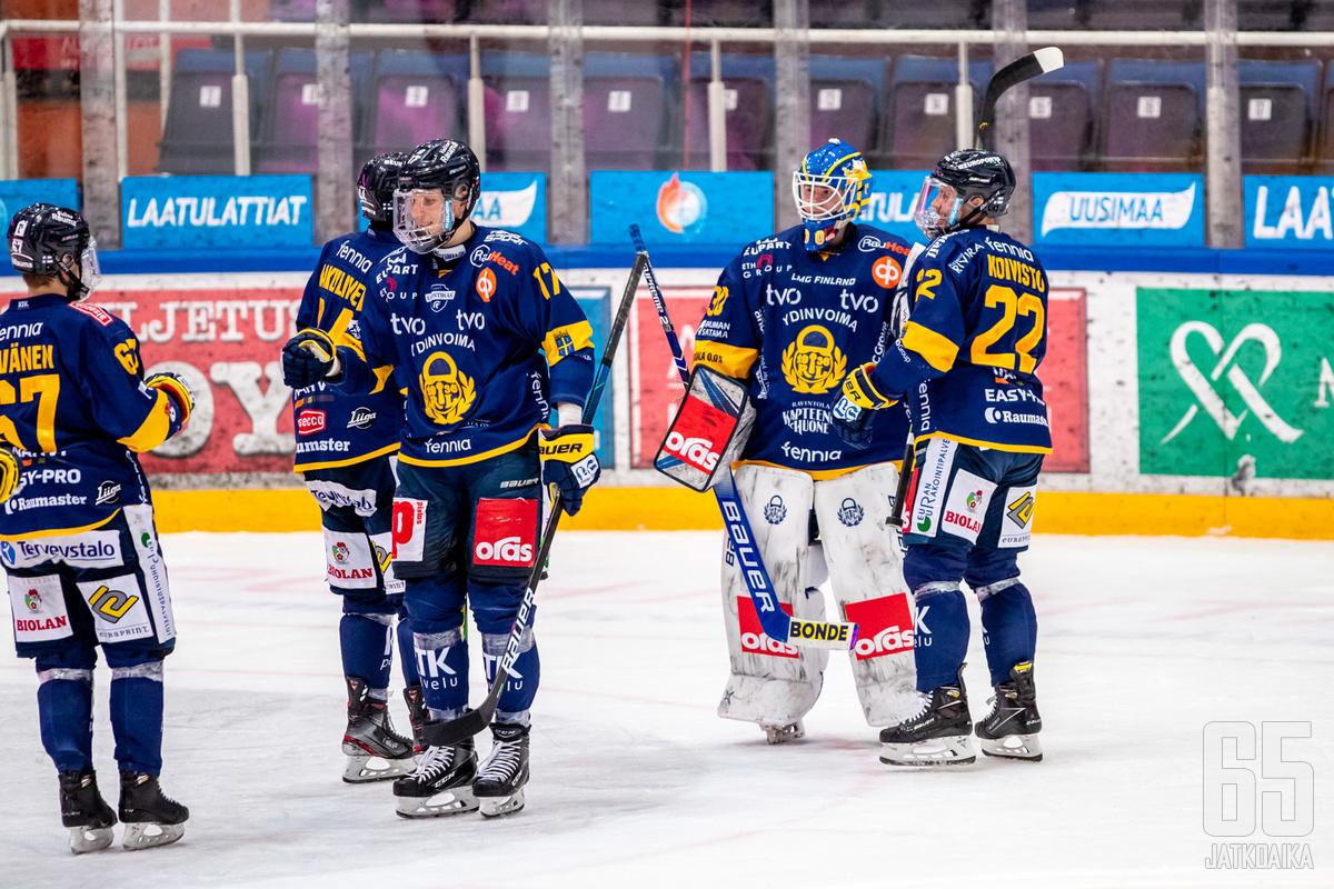 Rauman Lukko on Liigan runkosarjan voittaja tällä kaudella.