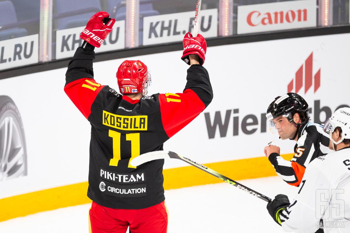 Kalle Kossilan kenttä oli ottelun parasta antia.