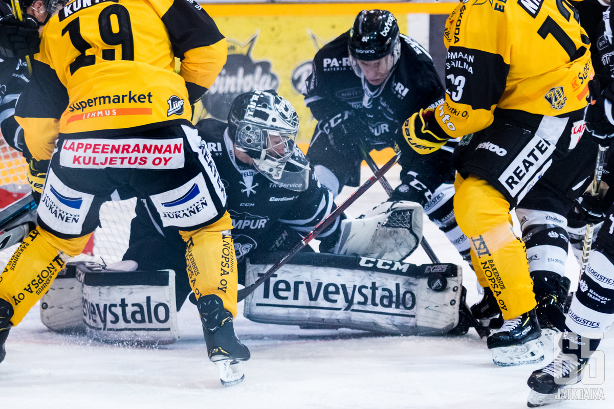 Henrik Haukeland torjui ensimmäisen nollapelinsä Liigassa lappeenrantalaisten kustannuksella.