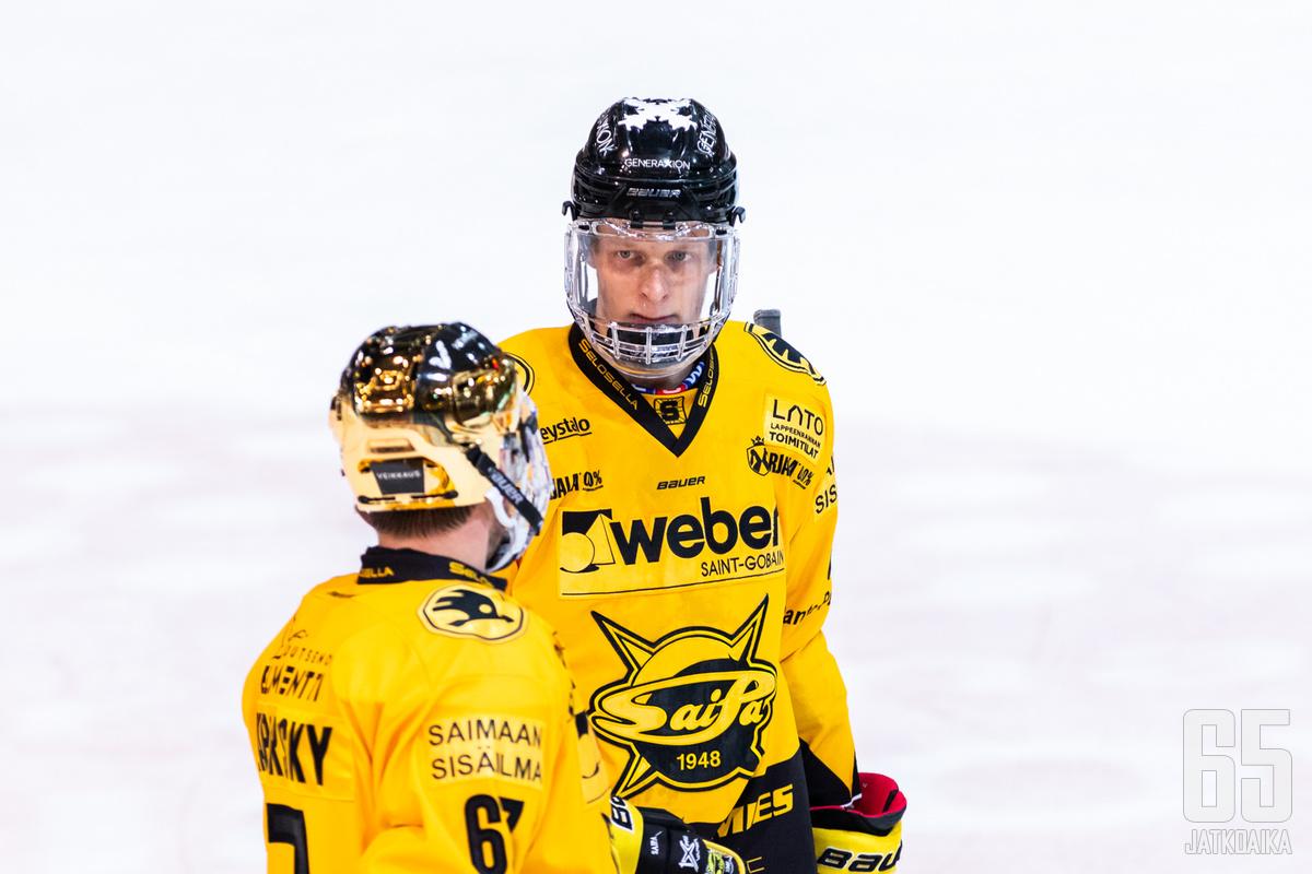 Joel Olkkonen on noussut yhdeksi SaiPan avainpelaajaksi.