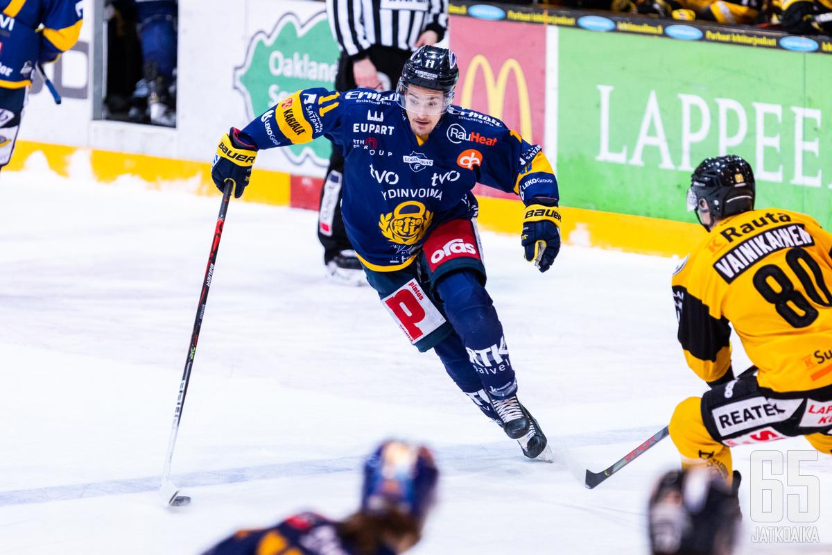 Tarmo Reunanen ja Lukko olivat tänään liian liukkaita SaiPalle.