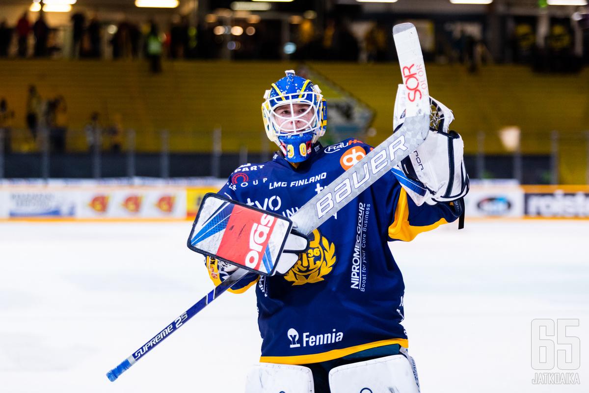 Lassi Lehtinen pelasi kauden ensimmäisen nollapelinsä.