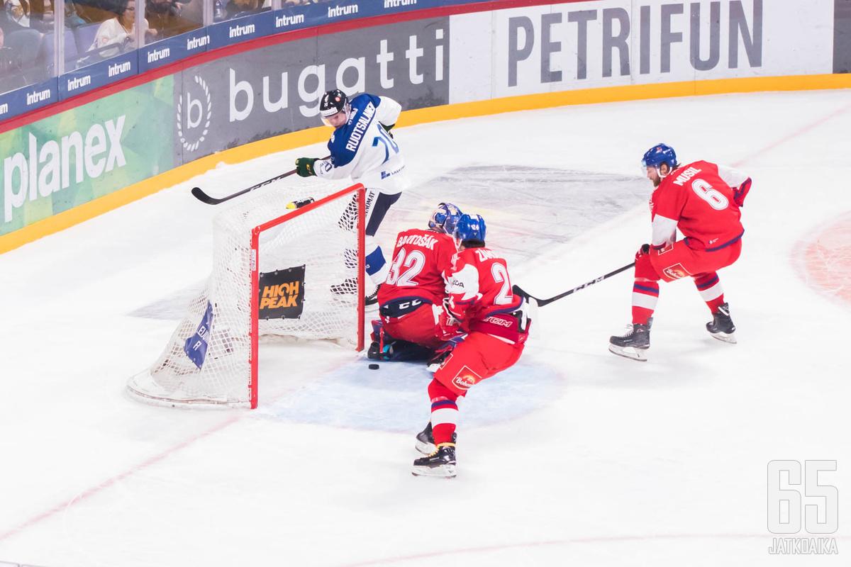 Arttu Ruotsalaisen ensimmäinen maajoukkueosuma jäi Suomen voittomaaliksi.