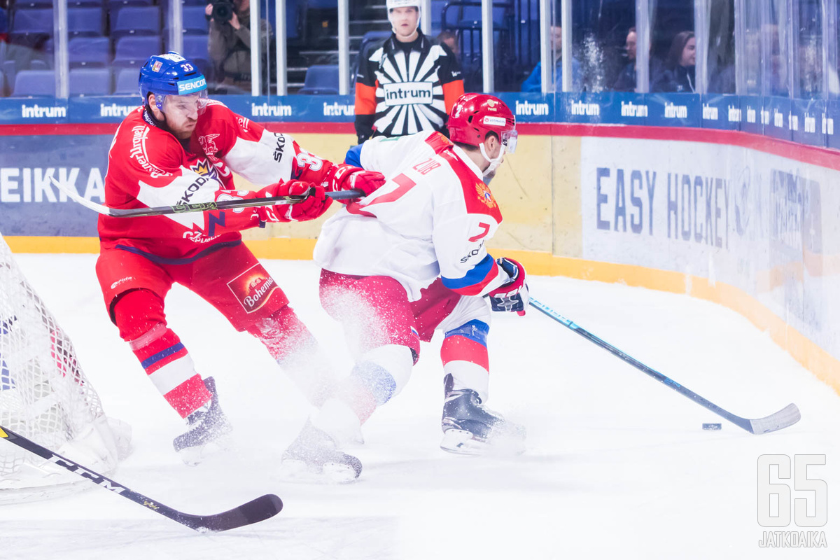 Tšekin ja Venäjän ottelu Helsingissä oli tasaväkisempää vääntöä kuin loppulukemista voisi päätellä.