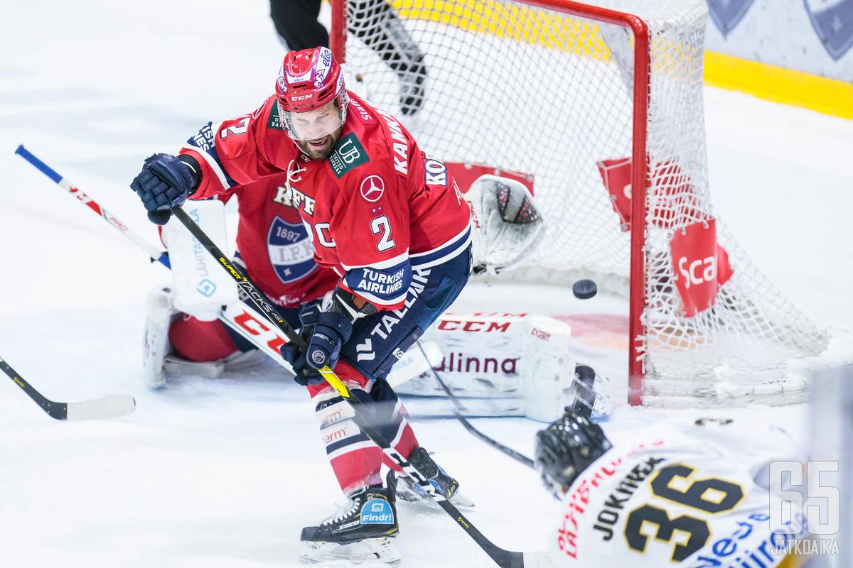 Markus Kankaanperä kantoi perjantaina kapteenin vastuun.