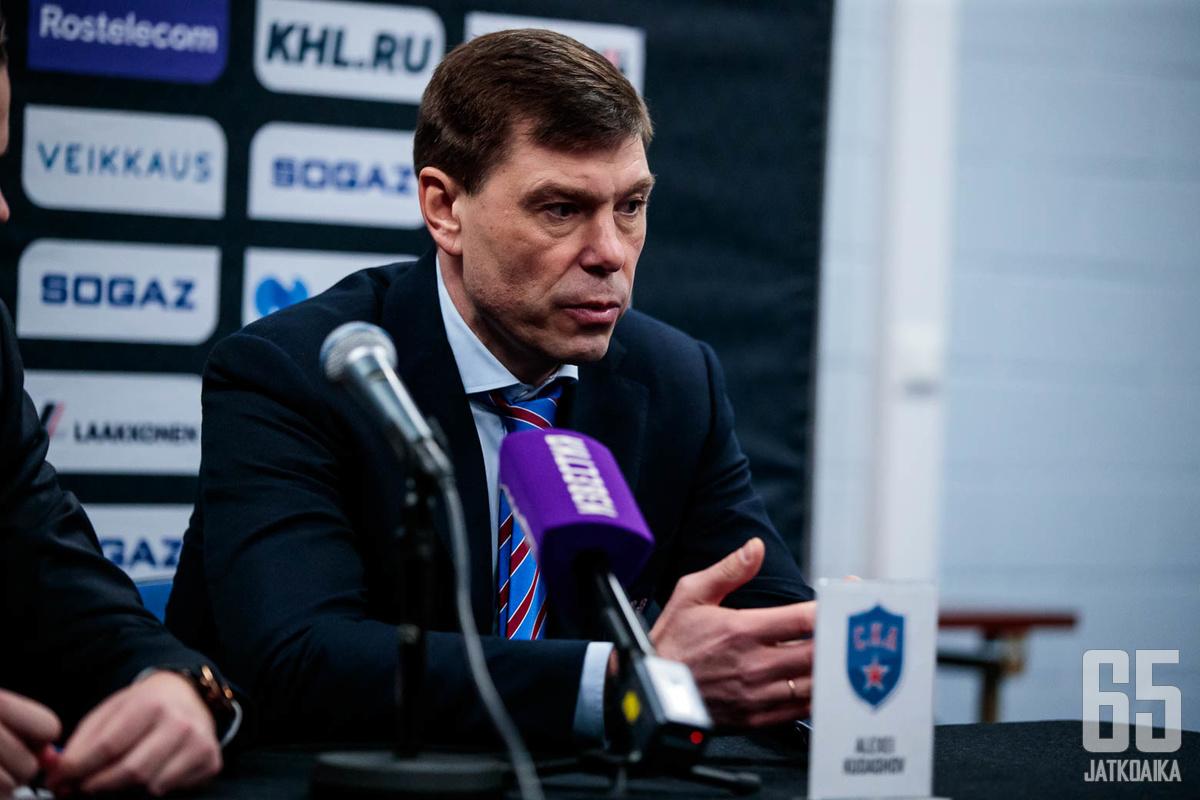 SKA:n päävalmentaja Aleksei Kudashovilla on paljon mietittävää joukkueensa kanssa.
