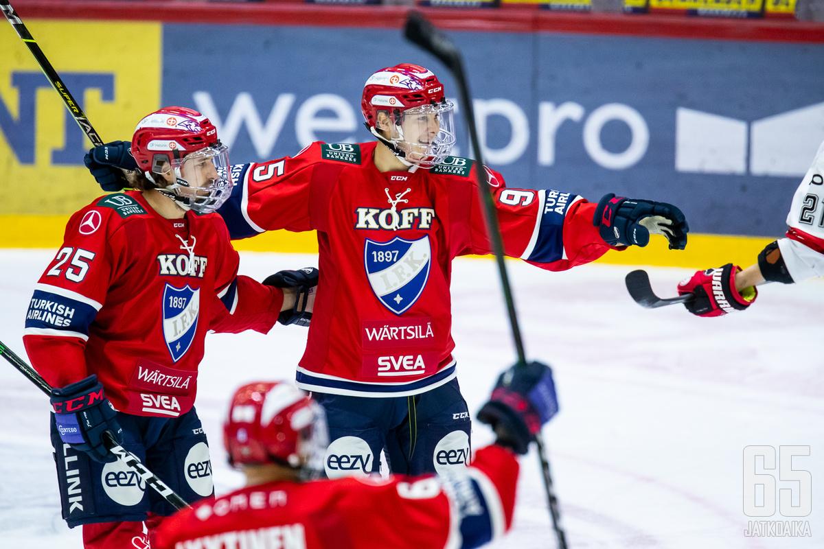 Hattutemppu oli Henrik Borgströmin liigauran ensimmäinen.