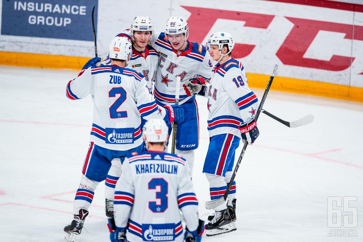 Pietarilaisryhmä pelaa Sibir Novosibirsk -ottelun junioripainotteisella kokoonpanolla koronavirustartuntojen vuoksi.