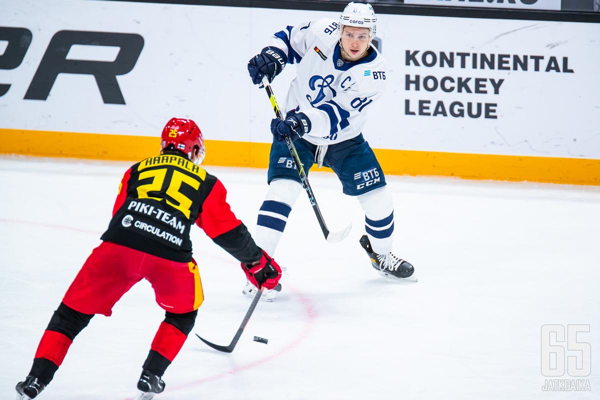 Dinamon kapteeni Vadim Šipatšov syötteli itsensä pistepörssin voittoon.