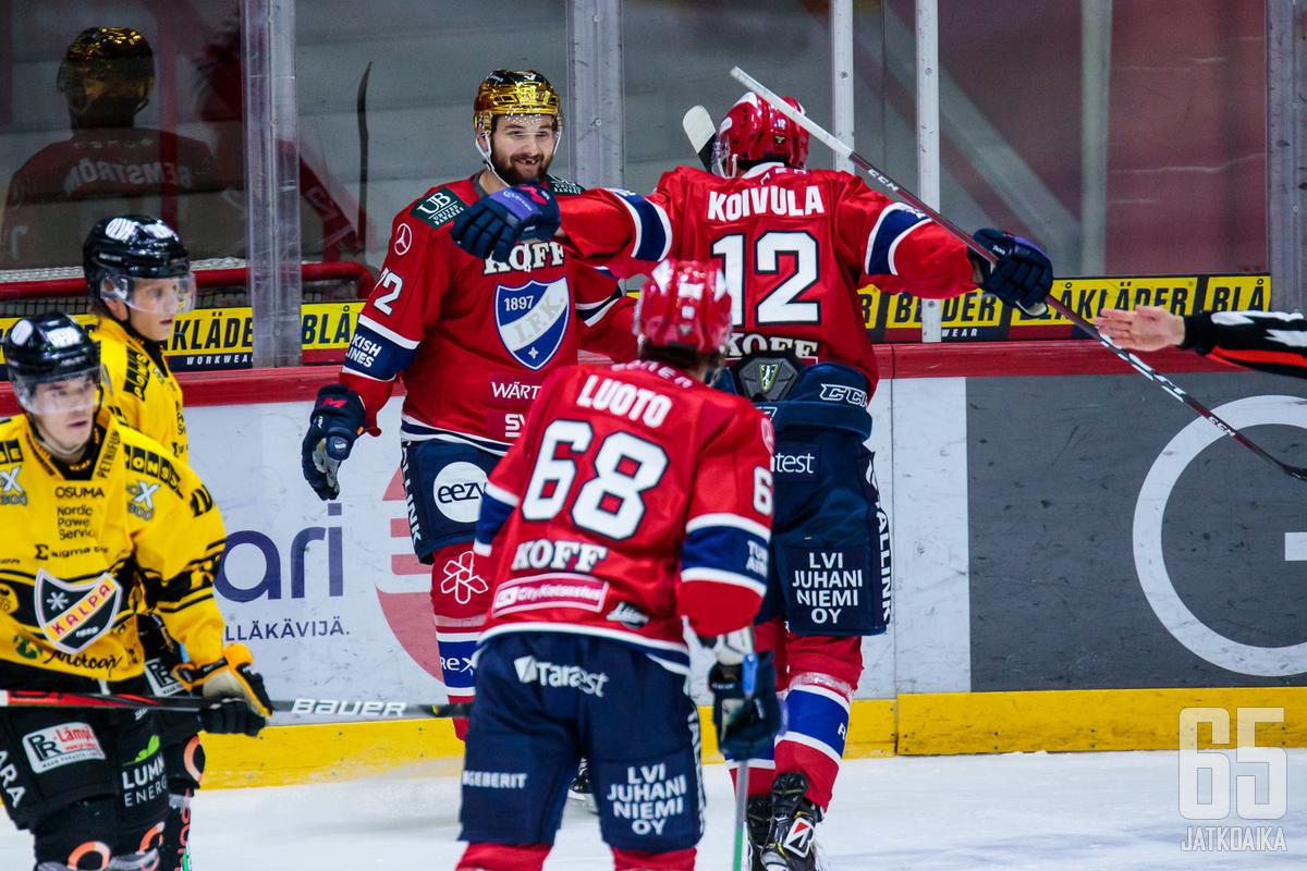 Emil Bemström iski illan ottelussa jo kauden kahdeksannen maalinsa.