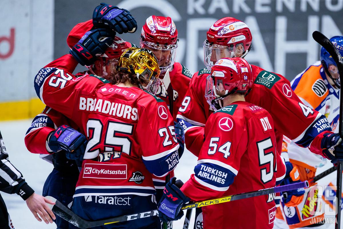 HIFK on ollut hurjassa hurjassa vireessä kevättalven otteluissa.