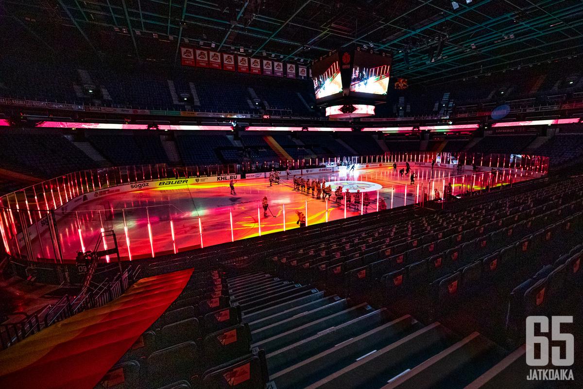 Etelä-Suomessa pelataan pääsarjatason jääkiekko-otteluja tammikuun loppuun asti suljetuin ovin.