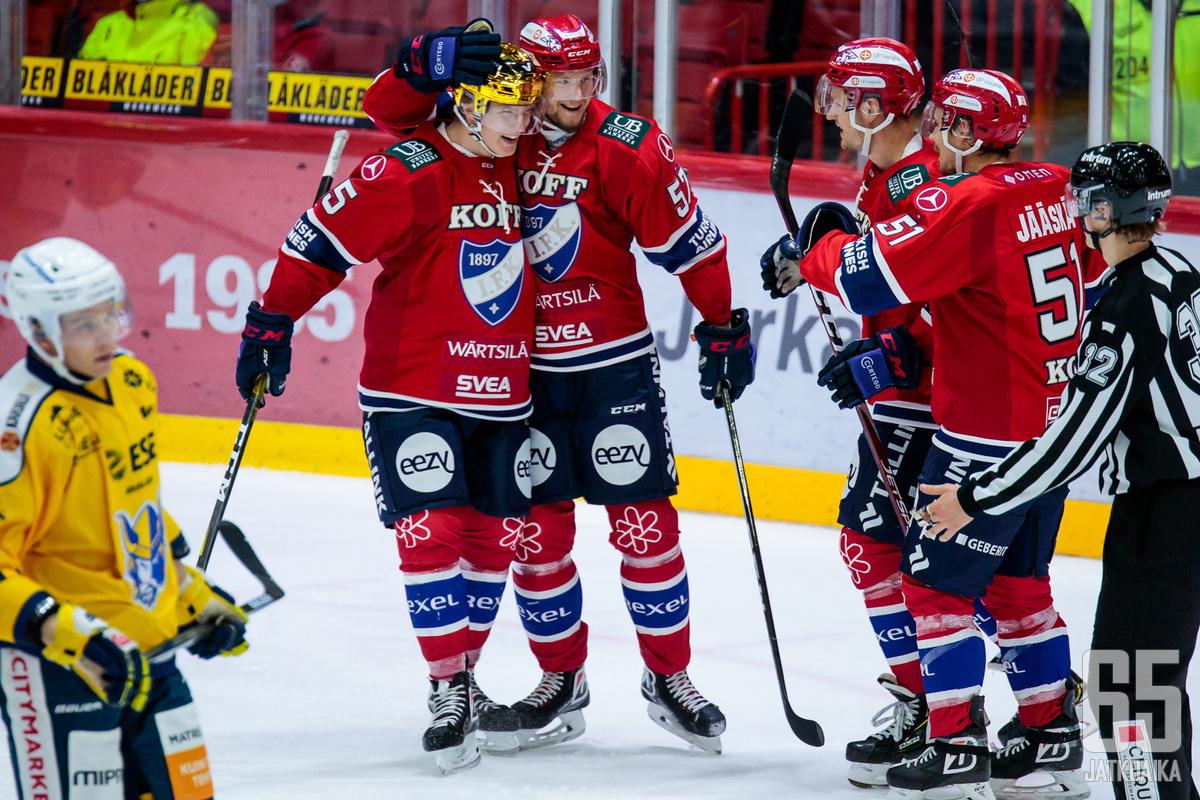 HIFK esiintyi kotonaan vakuuttavasti vajaallakin kokoonpanolla.