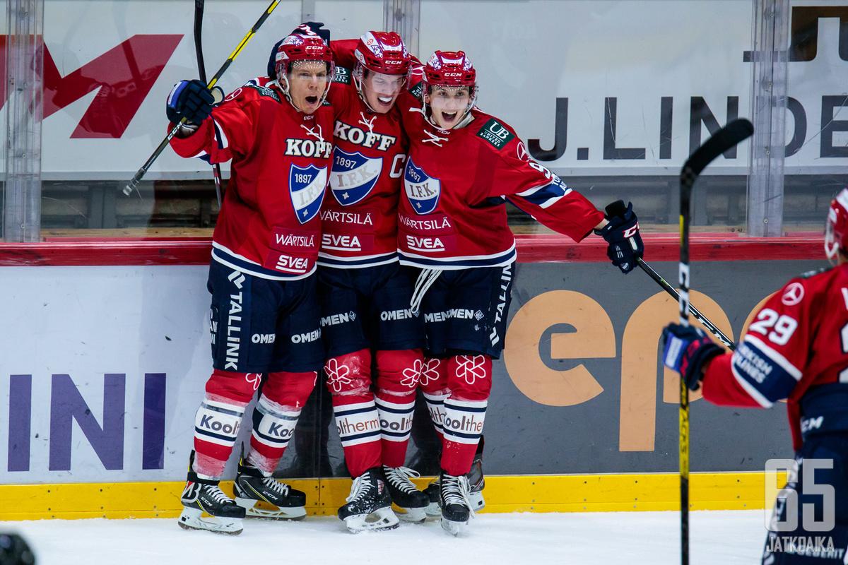 HIFK juhli voittoa kotikaukalossaan.