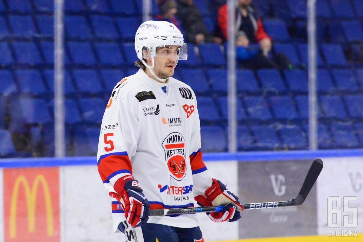 Sameli Ventelä palaa kehiin vasta neljännessä pelissä.