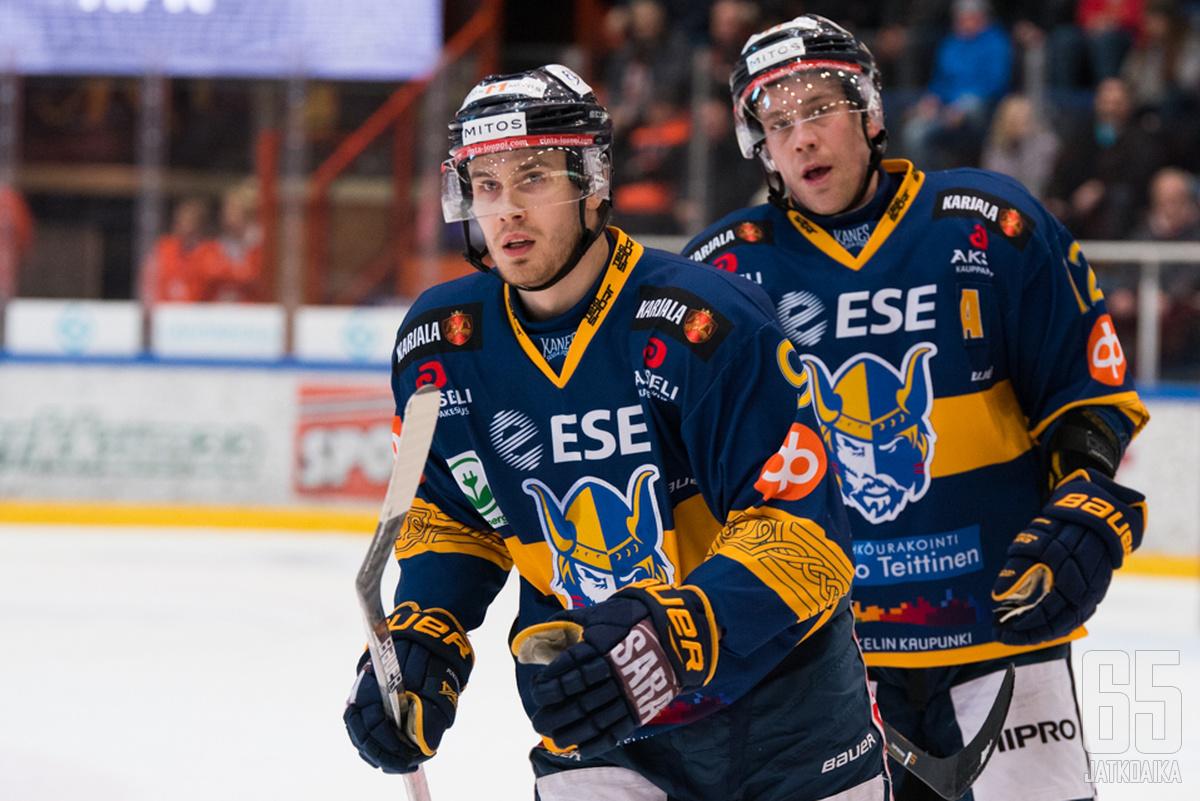 Miika Roine viimeisteli kauden kahdennentoista maalinsa.